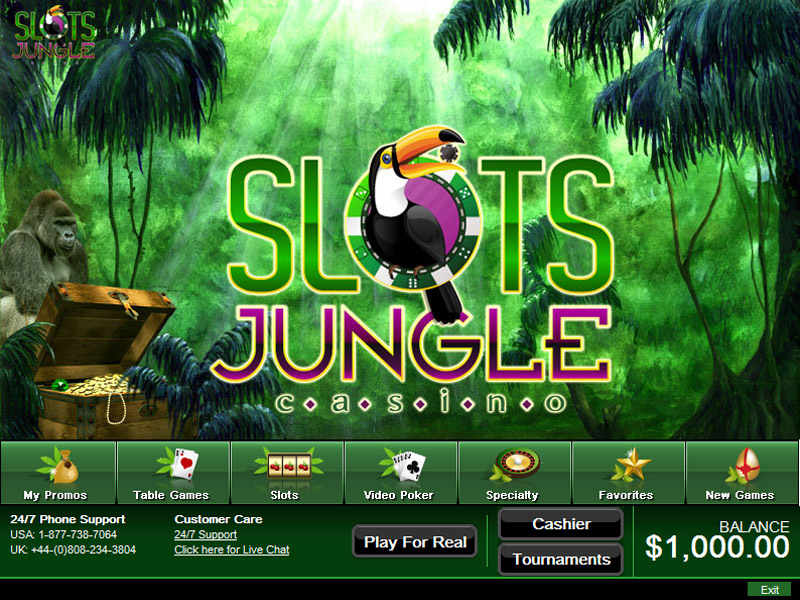 SlotsJungle Casino Lobby